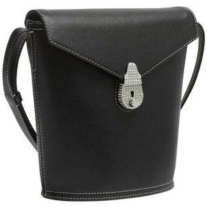 Calvin Klein Lock Leather Bucket Bag Black Limited